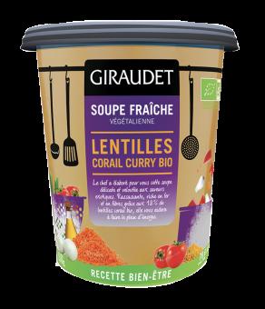 Soupe lentilles corail curry BIO, Giraudet (350 g)