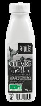 Lait entier fermenté de chèvre BIO, Kerguillet (500 g)