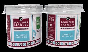 Faisselle brebis BIO, Douceurs Basques (x 2, 220 g)