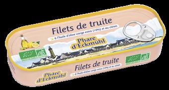 Filets de truite à l'huile d'olive et au citron, en boîte 1/5, Phare d'Eckmuhl (130 g)