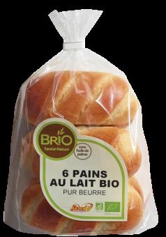 Pains au lait pur beurre BIO, Brio (x 6, 210 g)