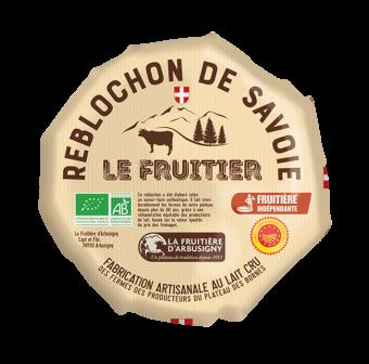 Reblochon le fruitier AOP petit modèle BIO, 27 % MG/PF, La Fruitière d'Arbus (230 g)