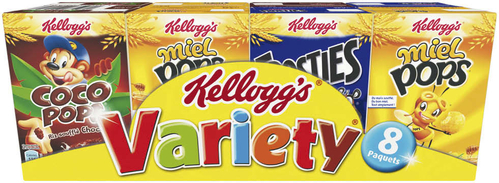 Variétés de céréales en mini paquets, Kellogs (x 8, 215 g)