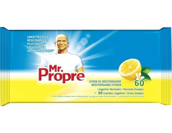 Lingettes Citron, Mr Propre (x 60 / offres spéciale x 64)