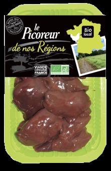 Foies de volaille BIO, Le Picoreur (environ 170 - 220 g)