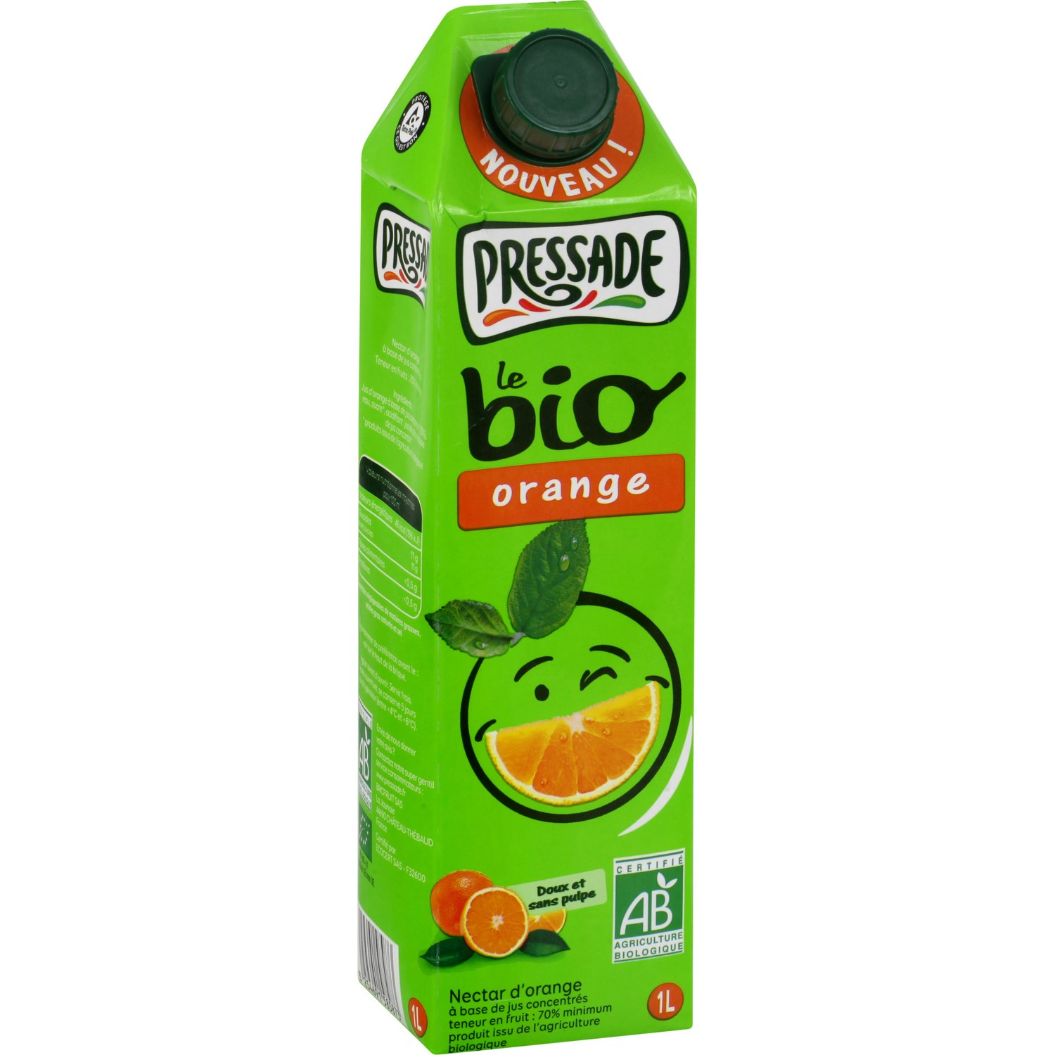 Nectar d'orange BIO, Pressade (1 L)