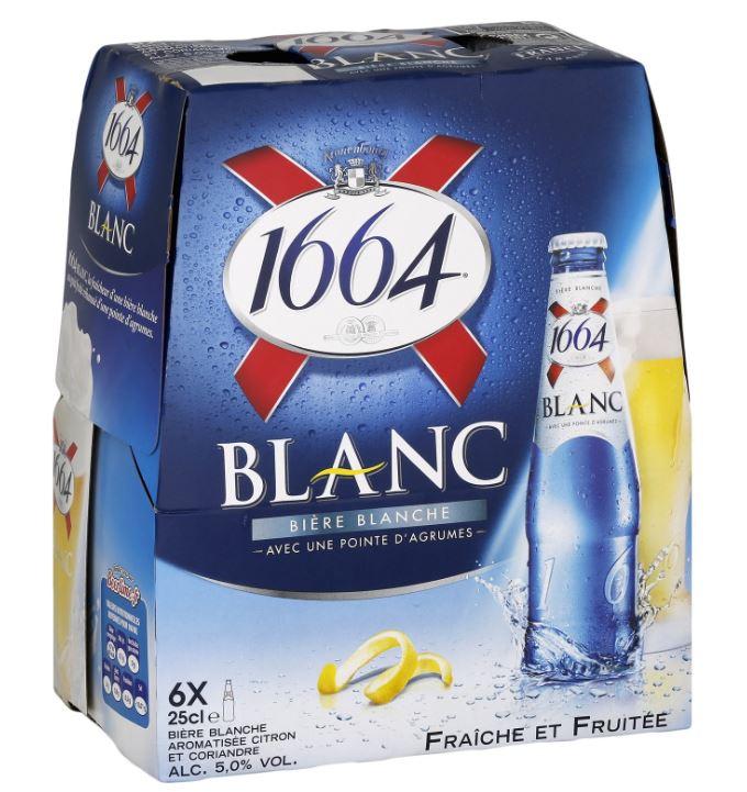 Pack de 1664 Blanche, 5° (6 x 25 cl)