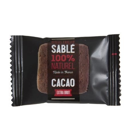 170 sachets de sablés carrés Cacao extra brut, Goulibeur (1 kg)
