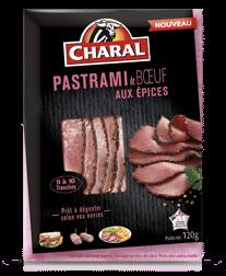 Pastrami de boeuf aux épices, Charal (120 g)