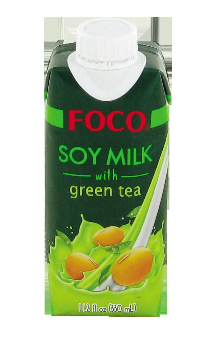 Boisson au soja au thé vert, Foco (330 ml)