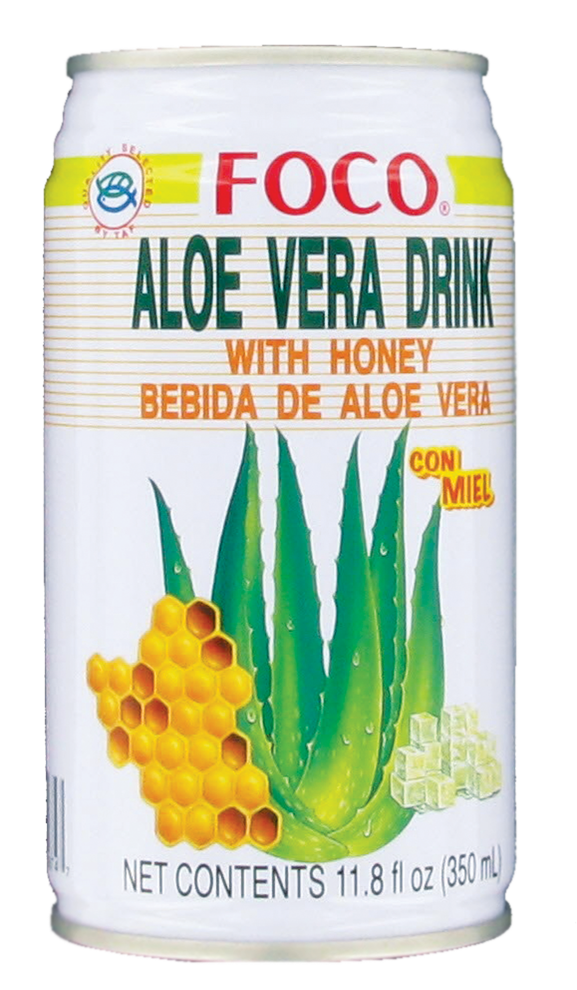 Boisson au jus d'aloe vera et miel, Foco (350 ml)