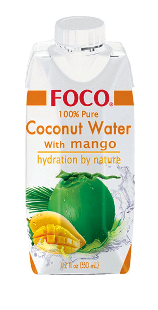Jus de noix de coco et purée de mangue, Foco (33 cl)