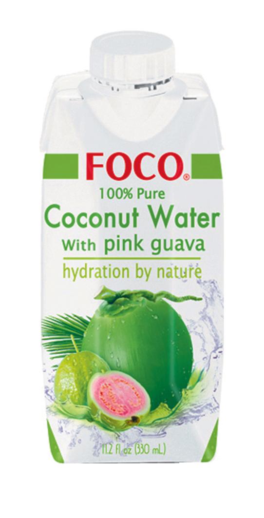 Jus de noix de coco et purée de Goyave, Foco (33 cl)