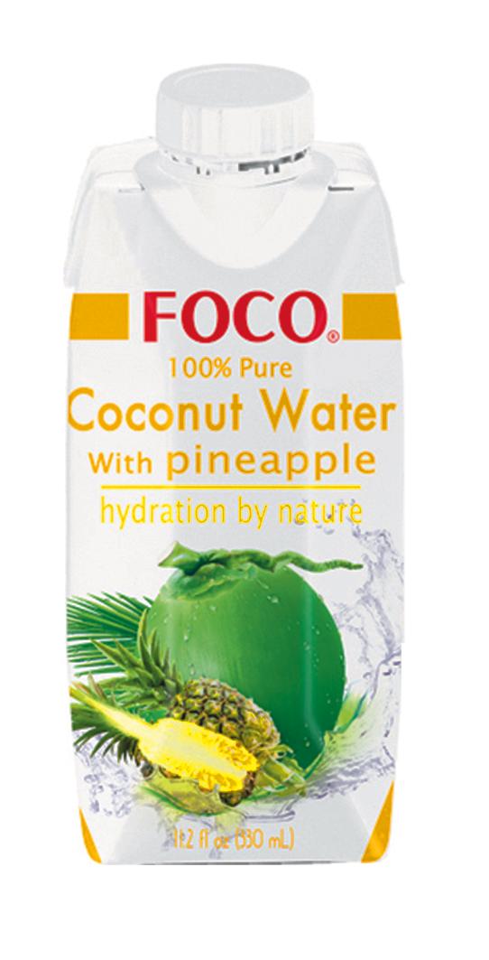 Jus de noix de coco et d'ananas, Foco (33 cl)