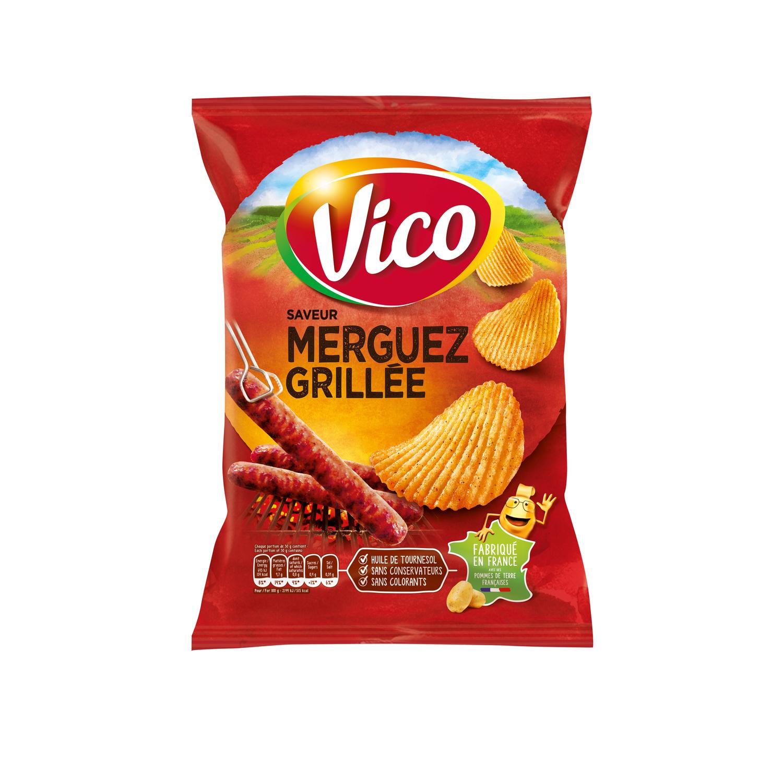 Chips saveur merguez grillée, Vico (120 g)