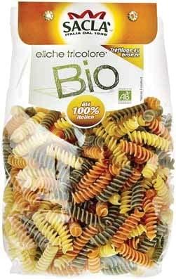 Pâtes Eliche Bio Tricolore, Sacla (500 g)