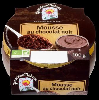 Mousse au chocolat noir BIO, Grandeur Nature (100 g)