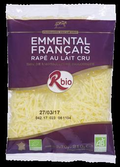 Emmental râpé BIO 31 % MG/PF, R.Bio (70 g)