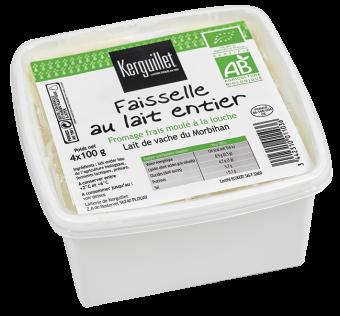 Faisselle au lait entier 40 % MG/PF BIO, Kerguillet (400 g)