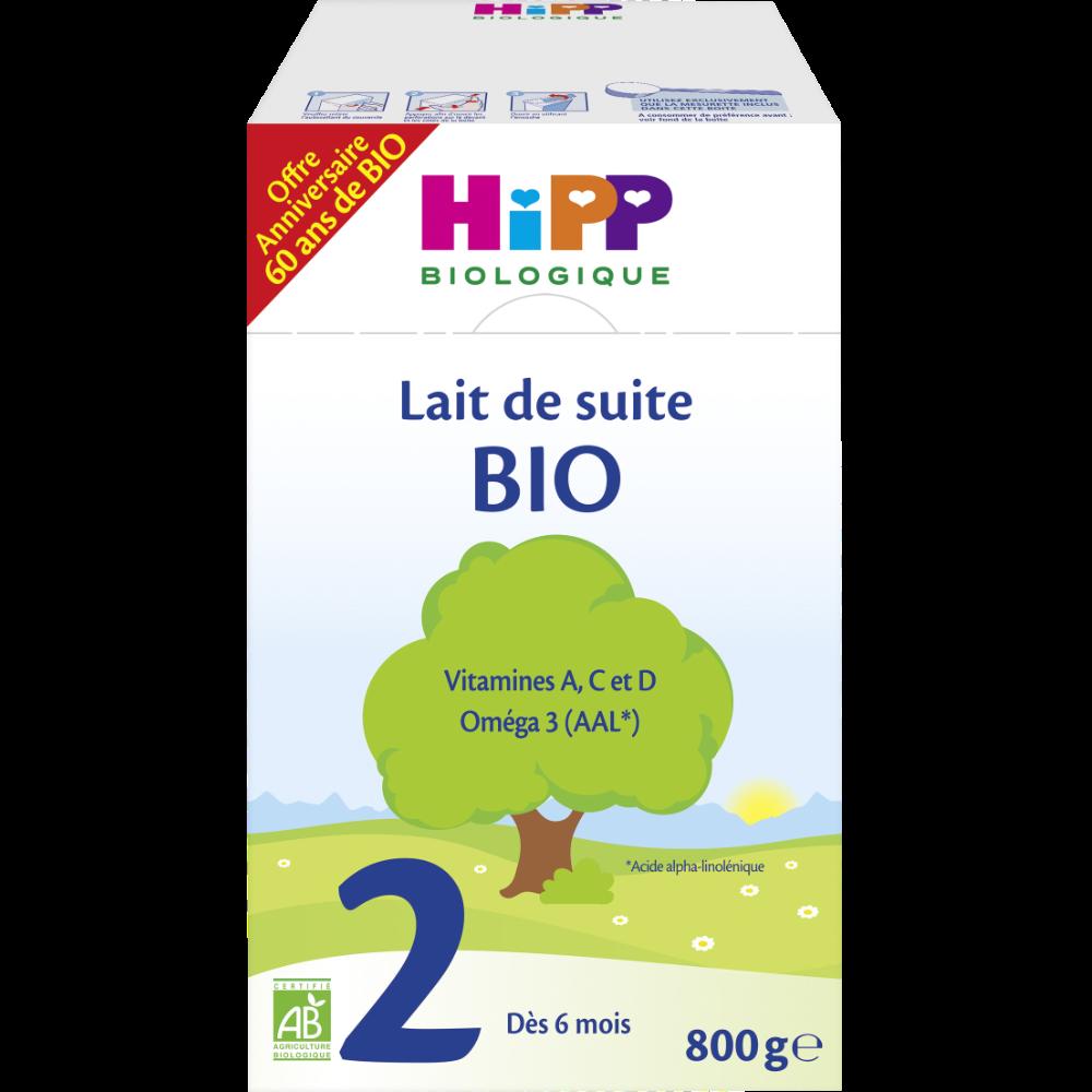Lait de suite 2ème âge BIO - dès 6 mois, Hipp (800 g)