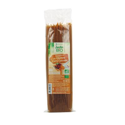 Spaghetti au quinoa, curry & curcuma BIO, Jardin Bio (500 g)