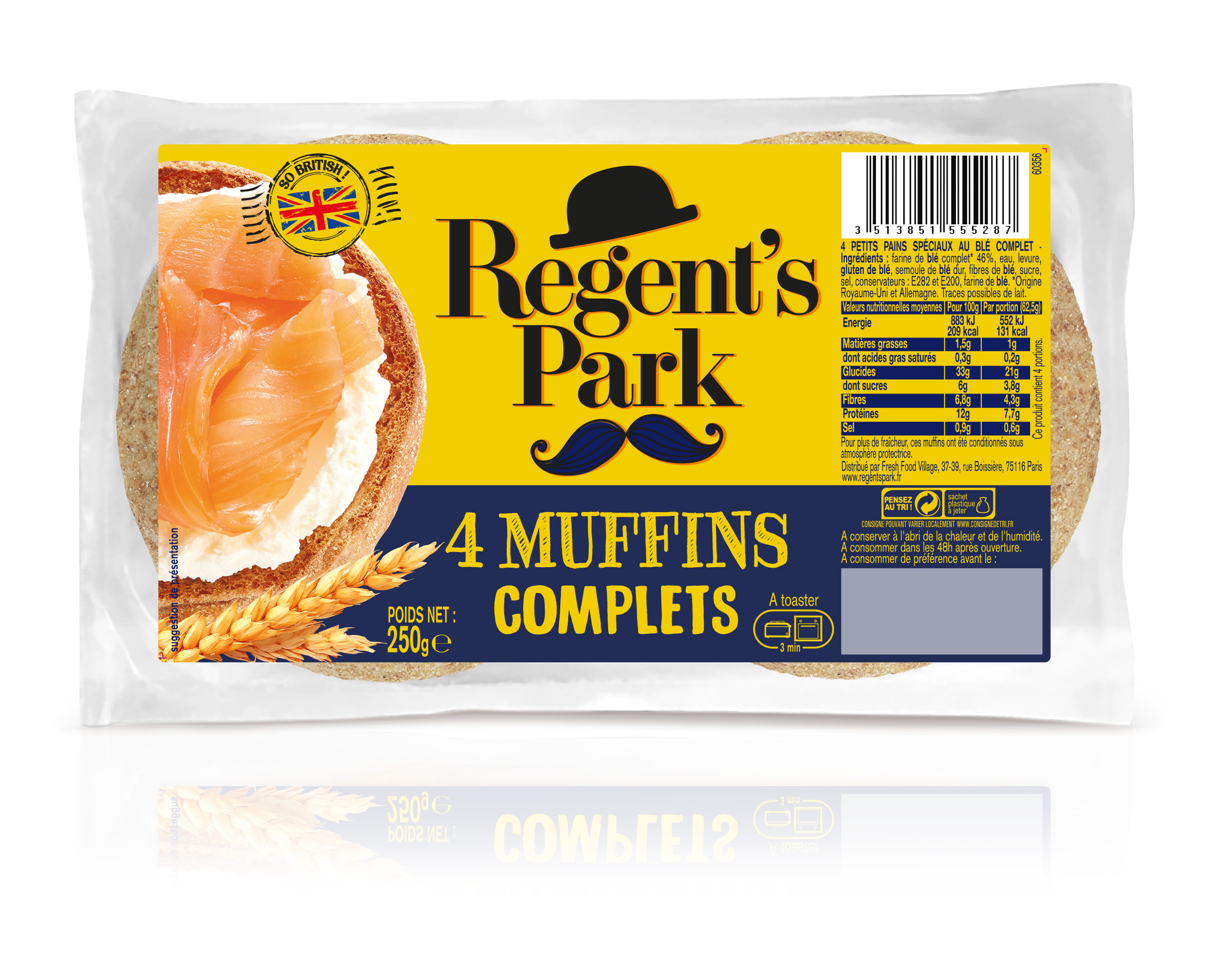 English Muffins complets, Regent's Park (250 g)
