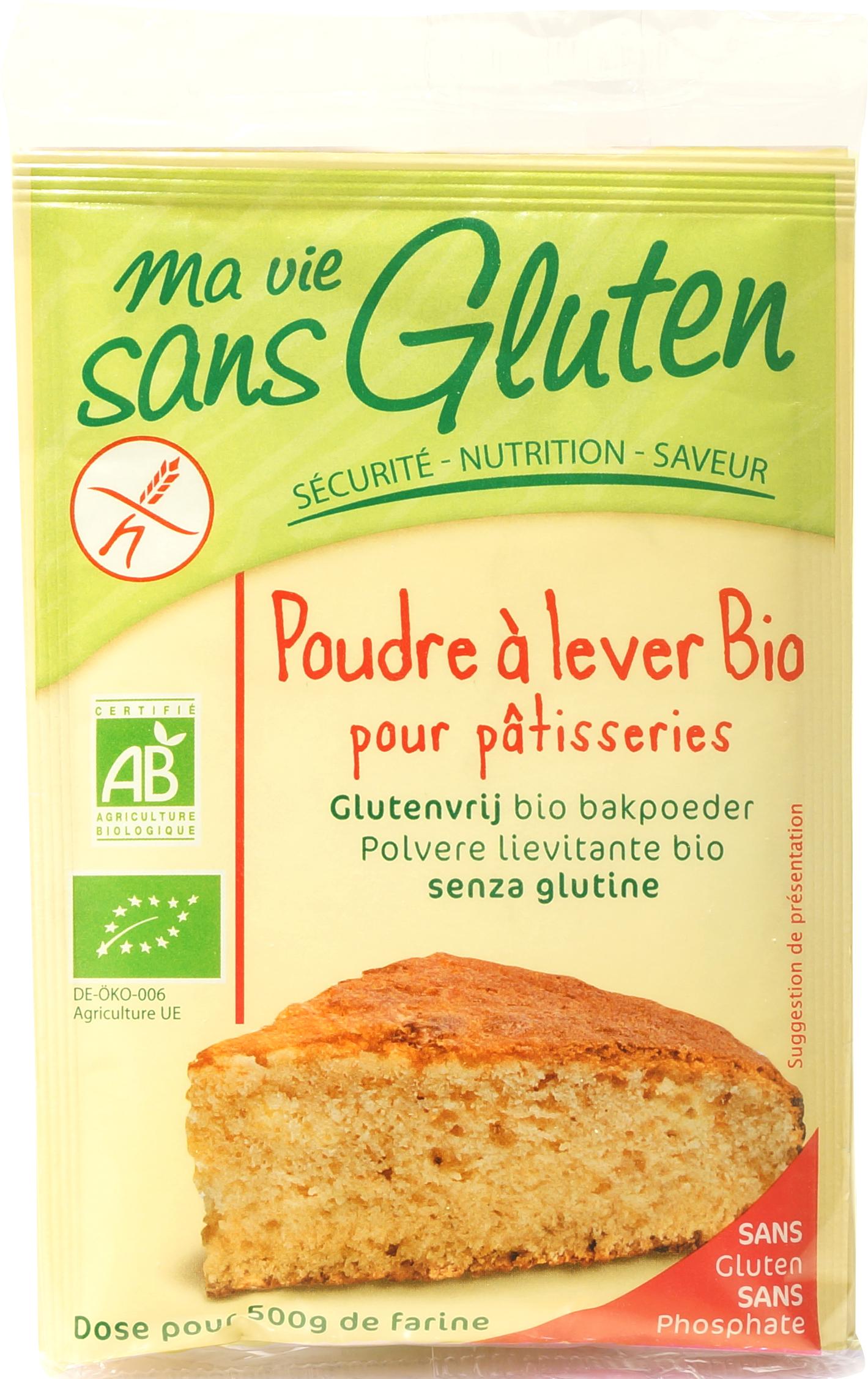 Poudre à lever BIO pour pâtisseries, Ma Vie Sans Gluten (17 g)