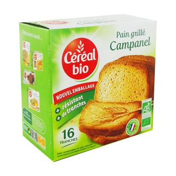 Pain grillé Campanel BIO, Cereal bio (275 g)