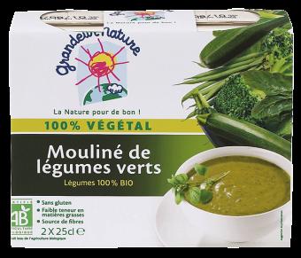 Mouliné de légumes verts BIO, Grandeur Nature (2 x 25 cl)