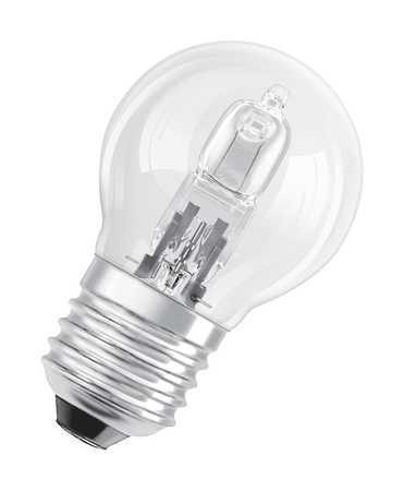 Ampoule sphérique halogène éco 46W, 74 x 45 mm, culot E27 (x 2)