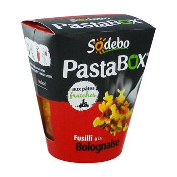PastaBox fusilli bolognaise, Sodebo (300 g)