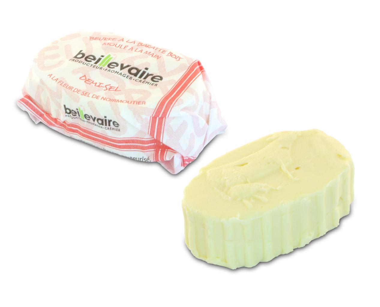 Beurre artisanal pasteurisé demi-sel, Beillevaire (125 g)