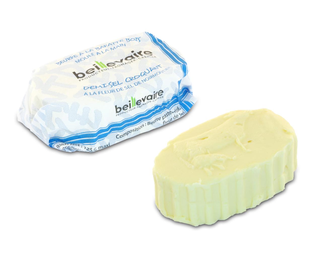 Beurre artisanal pasteurisé croquant, Beillevaire (125 g)