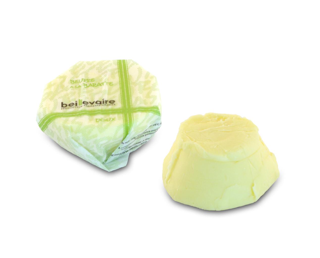 Beurre artisanal pasteurisé doux, Beillevaire (20 g)