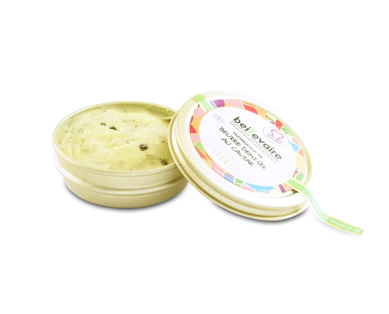Beurre artisanal au caviar, Beillevaire (50 g)