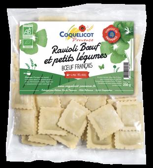 Ravioli frais au boeuf et aux petits légumes BIO, Coquelicot (250 g)