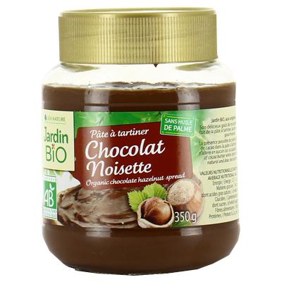 Pâte à tartiner chocolat noisettes BIO, Jardin Bio (350 g)