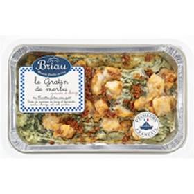 Gratin de merlu épinards et chorizo, Maison Briau (750 g)