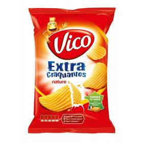 Chips extra craquantes nature, Vico (135 g)