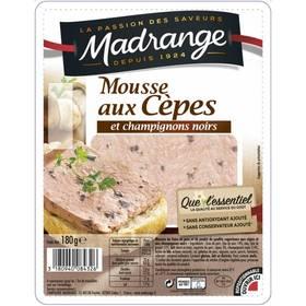 Mousse aux cèpes et champignons noirs, Madrange (180 g)