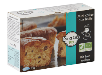 Mini-cake aux fruits BIO, France Cake Tradition (x 5, 175 g)