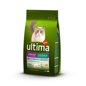Croquettes pour chat stérilisé d'intérieur, Ultima (1,5 kg)