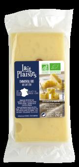 Emmental au lait cru, 31 % MG/PF, Lait Plaisirs (240 g)