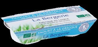 Yaourt à la Grecque au lait de brebis BIO, La Bergerie (2 x 125 g)
