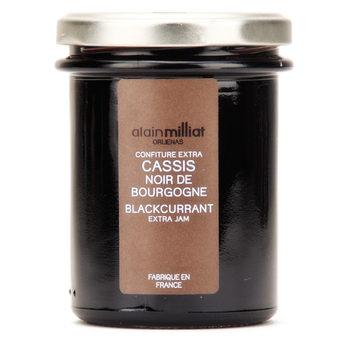 Confiture Extra Cassis Noir Bourgogne, Alain Milliat (230 g)