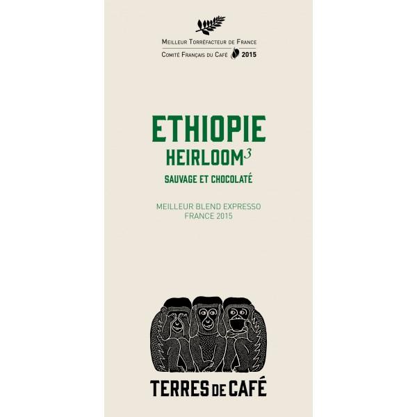 Café moulu H3 Ethiopie, Terres de Café (250 g)