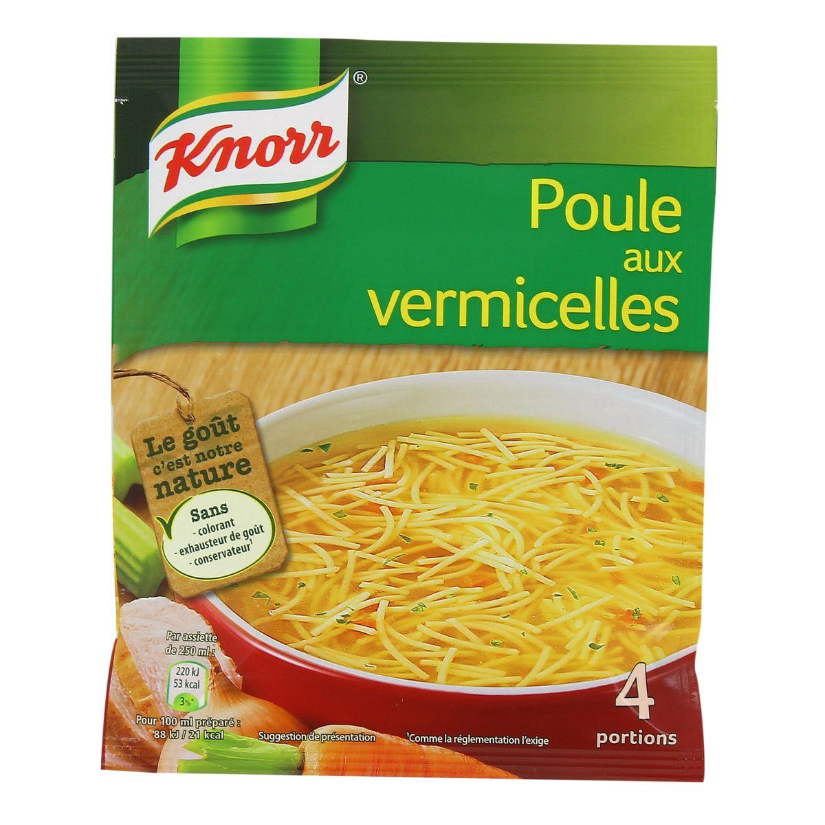 Soupe de poule aux vermicelles déshydratée, Knorr (63 g)