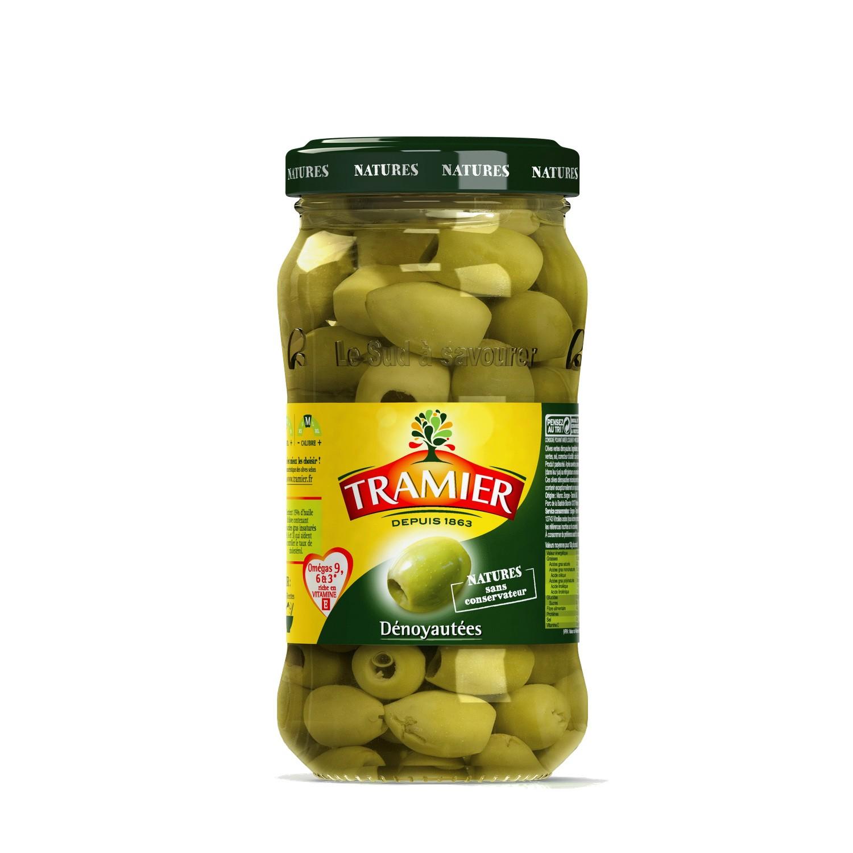 Olive verte dénoyautées, Tramier (160 g)