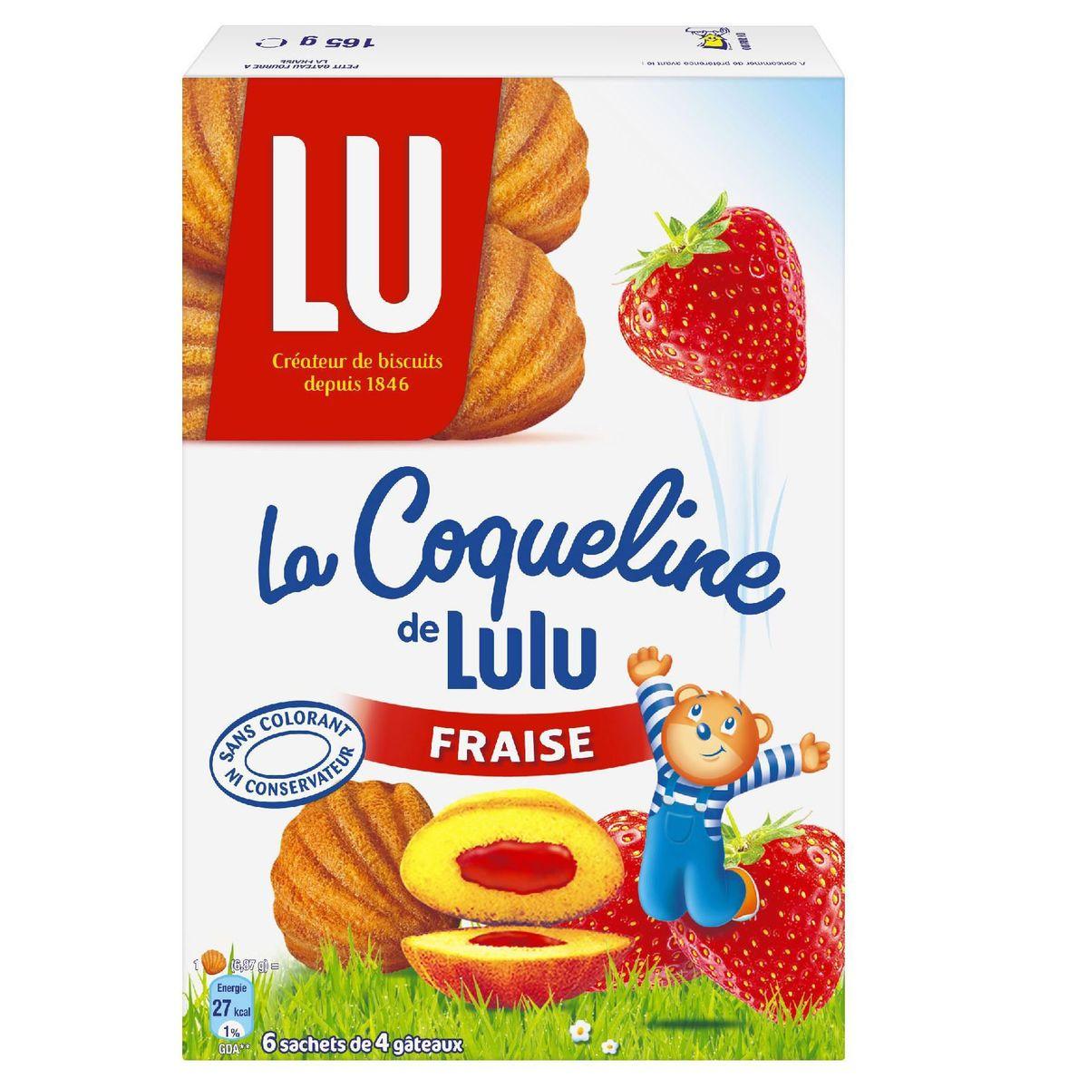 Lulu Coqueline aux fraises, Lu (165 g)