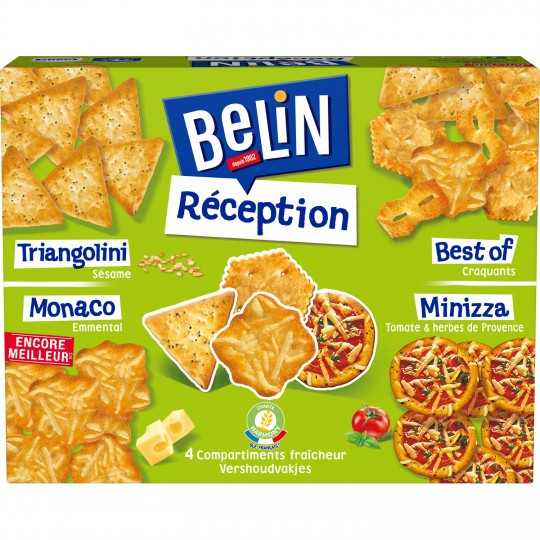 Crackers Réception assortiment, Belin (380 g)